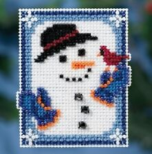 Invisible Snowman - Winter Holiday 2016 Mill Hill Bead Kit with Treasure New
