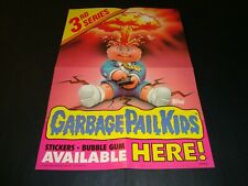 1986 Garbage Pail Kids Original Series 3 Dealer Promo Display Box Poster GPK