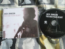 Jack Johnson You And Your Heart Brushfire Records TOTHESEACD1 Promo CD Single
