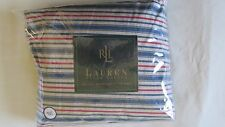 VINTAGE Ralph Lauren CHADWICK Stripe FULL FITTED SHEET ~ Rare NIB