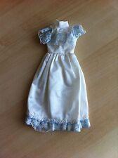 Vintage Faerie Glen blanc longue robe de soirée-s' adapte barbie/sindy/TRESSY-très bon état