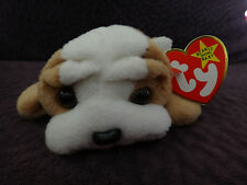 RARE, Mint, Wrinkles BullDog, Ty Original Beanie w/Tags, No Stamp, PVC Pellets