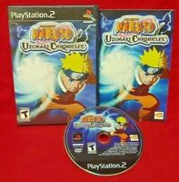 Naruto Uzumaki Chronicles - PS2 Playstation 2 COMPLETE Game Tested 1 Owner Clean