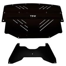BLACK TBW Aluminum Under Tray Skid Plate for 2008-2010 Subaru WRX /& STI