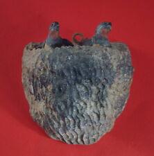 Küken im Nest, Holz geschnitzt, 19. Jahrhundert   (# 10456 )
