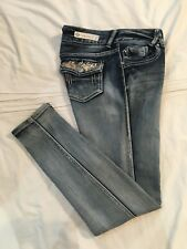 (*-*) VANITY * Womens Stretch SLIM Skinny Blue Jeans / Denim * Size 30 x 32