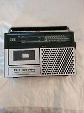ITT Tiny Cassette Radio Recorder Cassette Kassettenrecorder Vintage