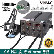 3en1 Station de Soudage 968DA+ Réparation à Souder Air Chaud Dessouder 100-480°C