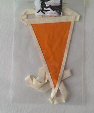 Latex rubber orange tanga thong string with white trim
