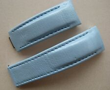 GENUINE TUDOR WATCH BAND STRAP BEAUTIFUL LIGHT BABY BLUE LEATHER 20 x 18 mm NEW