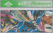 British TELECOM  Phonecard 20 units Surf 347L