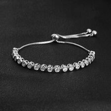 Adjustable Women Charm Bracelets Tennis Bracelets Crystal Hand Chain Link Bangle
