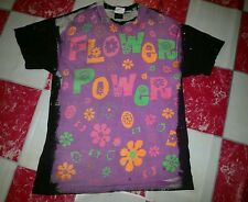 RARE VINTAGE 91 MOSQUITOHEAD FLOWER POWER T-SHIRT ACID WASH HIPPIES PSYCHEDELIC