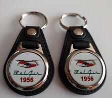 1956 Chevrolet Bel Air KEYCHAIN 2 PACK CLASSIC CAR FOB LOGO BELAIR KEY CHAIN