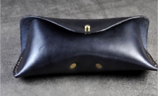 men women Eyeglass Cases sunglasses bag holder cow Leather Customize black z311