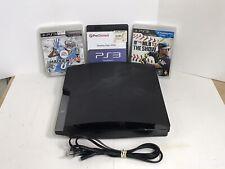 Sony PlayStation 3 PS3 Slim 120GB Console CECH-2001A w/ 3 GAMES