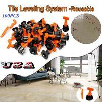 100PCS Reusable Tile Leveling Positioning System Leveler T-lock Floor Tools