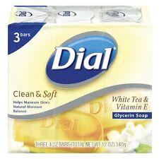 Dial Clean - Soft Glycerin Bar Soap, White Tea - Vitamin E, 4 oz bars, 3 ea
