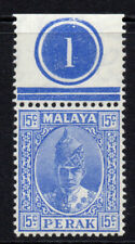 Perak (Malaya) 15 Cent Stamp c1938-41 Mounted Mint Hinged (5136)