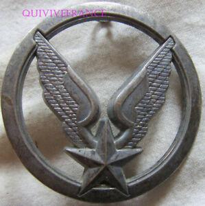 IN17563 - Insigne de béret, A.L.A.T, argenté, plat, fixation pontets