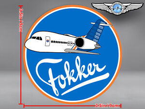 FOKKER 100 F100 HOUSE LIVERY ROUND DECAL / STICKER