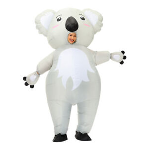 Koala Inflatable Costume Cosplay Halloween Easter Adults Carnival Outfits White
