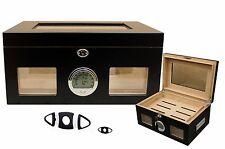 Cave a cigares humidor capacité: 100 cigares Humideur - vitre - numérique hygrom