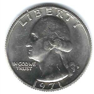 1971-D Denver Brilliant Uncirculated Washington Quarter!