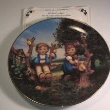 Mj Hummel Collector Plate Apple Tree Boy Girl Danbury Mint 1989 Little Companion