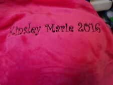 hot pink minky fleece 45x60 mom grandma fleece personalized Blanket