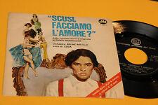 """MORRICON NICOLAI 7"""" DAL FILM SCUSI FACCIAMO L'AMORE ? 1°ST ORIG ITALY 1969 EX !!"""