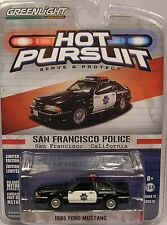 GREENLIGHT DIECAST METAL SAN FRANCISCO CA POLICE 1:64 SCALE 1993 FORD MUSTANG GT