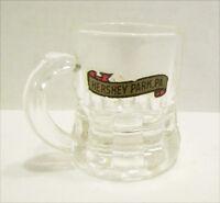 HERSHEY PARK, PA VINTAGE MINIATURE GLASS BEER MUG SOUVENIR W/ DECAL amusement
