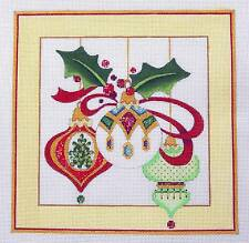SP.ORDER ~ 3 ELEGANT ORNAMENTS 18m HP Needlepoint Canvas by Strictly Christmas