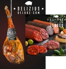 4kg SPANISH HAM SHOULDER SERRANO + 1KG 100 % IBERIAN Spanish SAUSAGES PACK