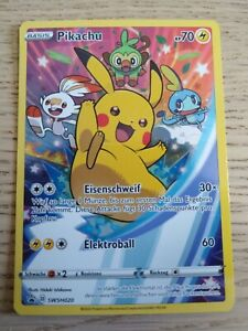 Pokemon TCG - Pikachu - SWSH020 - Fullart Promo - neu & ungespielt