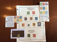 US Stamp Set Scott # 374 to 396. 1910 to 1913. Used Hinged See Description Below