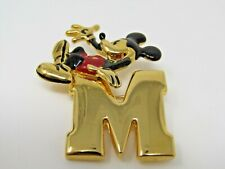 Letter M Initial Mickey Mouse Disney Pin Nice Design Gold Tone