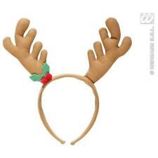 Brown Reindeer Horns Christmas Rudolph Festive Fancy Dress Accessory