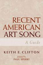 RECENT AMERICAN ART SONG - NEW HARDCOVER BOOK