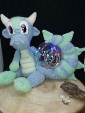 gehäkelte crochet Drache Dragon Lampe LED Nachtlicht Kinder Leuchtkugel