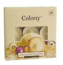 Pack of 9 Gold Frankincense & Myrrh Scented Luxury Tealights by Wax Lyrical