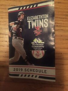 2019 Elizabethton Twins Pocket Schedule Last Season Minor League Baseball MiLB