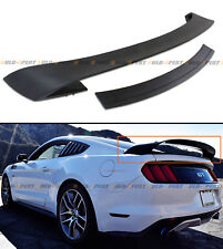 For 2015-17 Ford Mustang GT350 Style Double Deck Primer Black Trunk Spoiler Wing