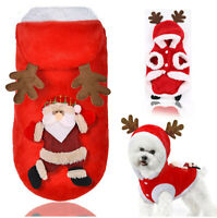 Warm Small Pet Puppy Dog Clothes Hoodie Coat Christmas Costume Winter Apparel