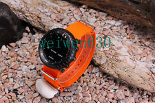 For Suunto Core 24mm Orange military watch nylon strap Lugs Adapters PVD kit
