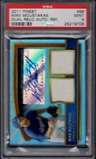 2011 Mike Moustakas Topps Finest Dual Relic Auto Refractor /499 Graded PSA 9 MT