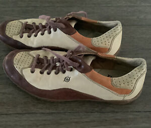 BORN Mens Brown Tri-Tone Leather Lace Up Oxford Sneakers Shoes US 11.5 - EU 45.5