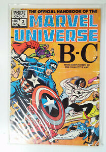 The Official Handbook of the Marvel Universe #2 Marvel (1983) Comic Book