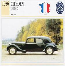 1956 CITROEN 15 SIX D Sedan Classic Car Photograph / Information Maxi Card